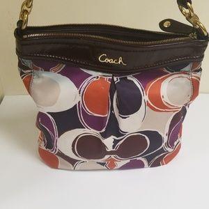 Coach Ashley Scarf Print Shoulder Hand Bag